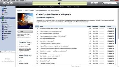 Domande sulla vostra prima crociera? Costa risponde su iTunes*
