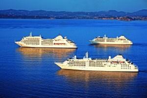 Prima volta per tre navi Silversea a Corfu