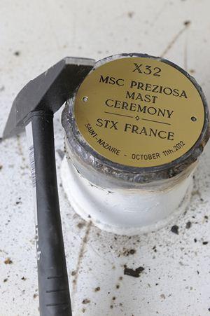 Coin Ceremony per MSC Preziosa
