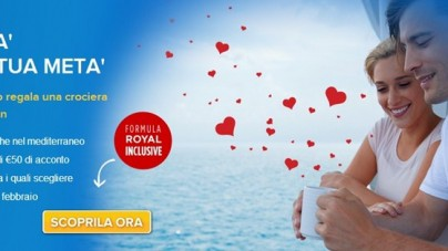 """San Valentino con Royal Caribbean e con la nuova promozione """"Metà per la tua Metà"""""""