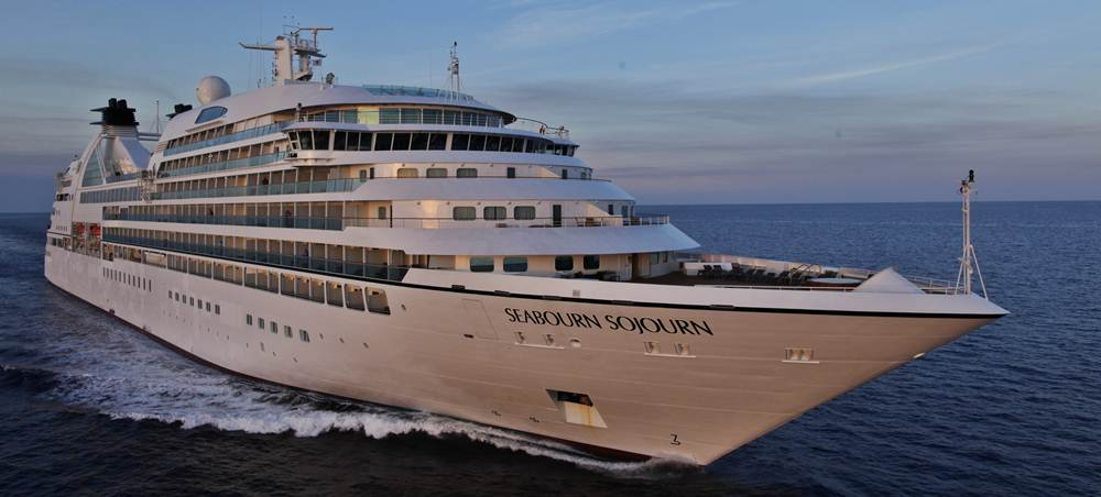 Seabourn Sojourn at Sea- Aerial