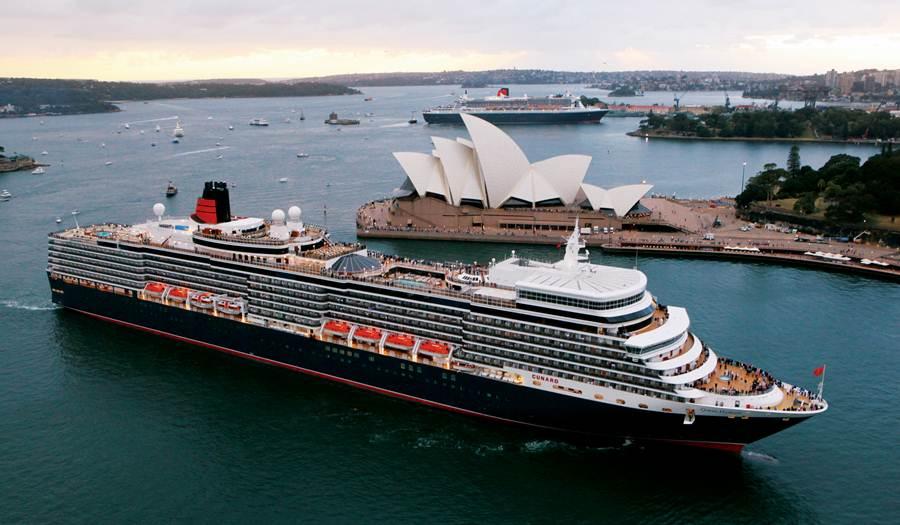 Queen Elizabeth e Queen Victoria in Sidney, Australia, Cunard Line