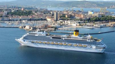 Porto di Trieste, nel 2017 il posizionamento di Costa Luminosa