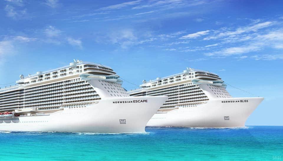 Norwegian Escape, Norwegian Bliss, Norwegian Cruise Line