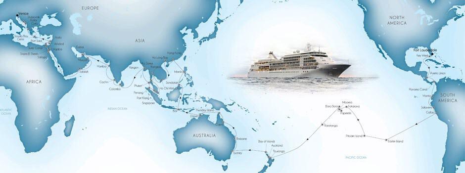 Venetian World Odyssey 2016, World Cruise, Silversea