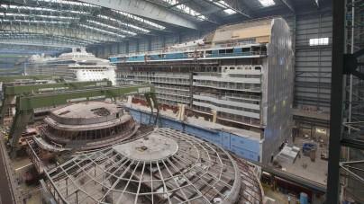 Meyer Werft: mercoledì 13 agosto l'uscita all'esterno di Quantum of the Seas