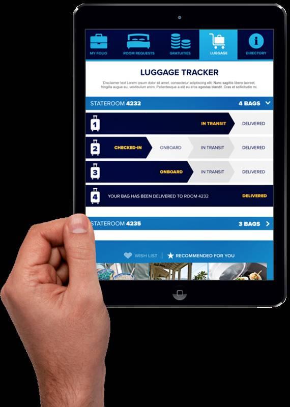 ipad-luggage-tracker Quantum of the Seas, Royal Caribbean