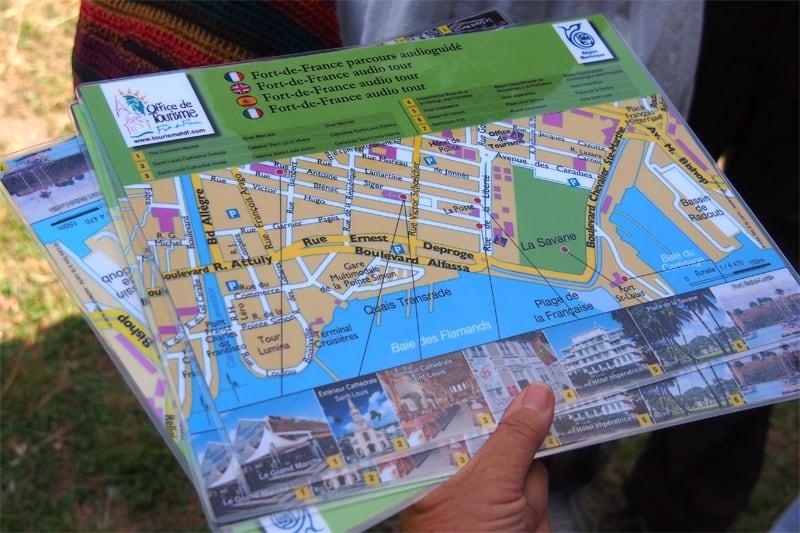 Martinique mappa