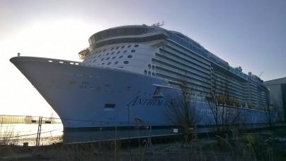 Meyer Werft: oggi il trasferimento di Anthem of the Seas nel Mare del Nord