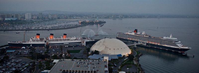 Queen Elizabeth, Queen Mary, Long Beach, California, Cunard