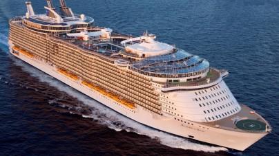 Allure of the Seas, la più grande nave da crociera del mondo, è arrivata in Italia