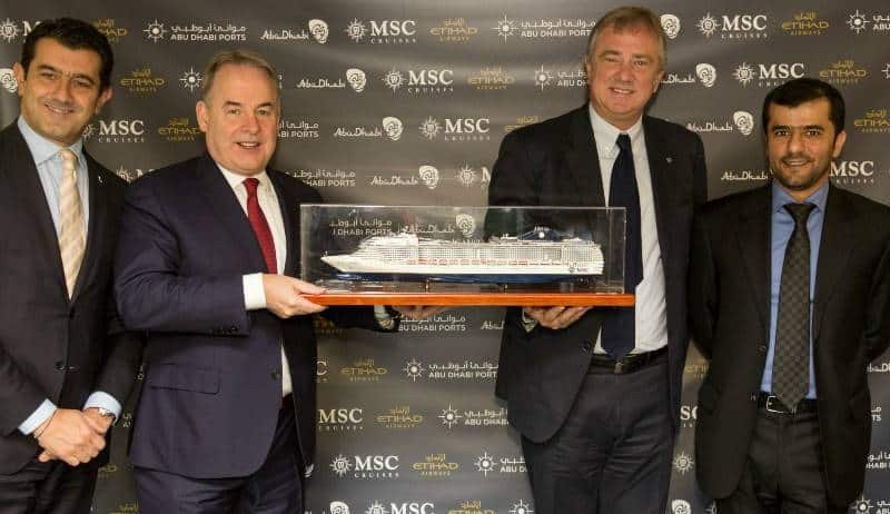 MSC Crociere, Etihad Airways