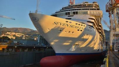 """Fincantieri, varata a Sestri Ponente """"Seven Seas Explorer"""""""