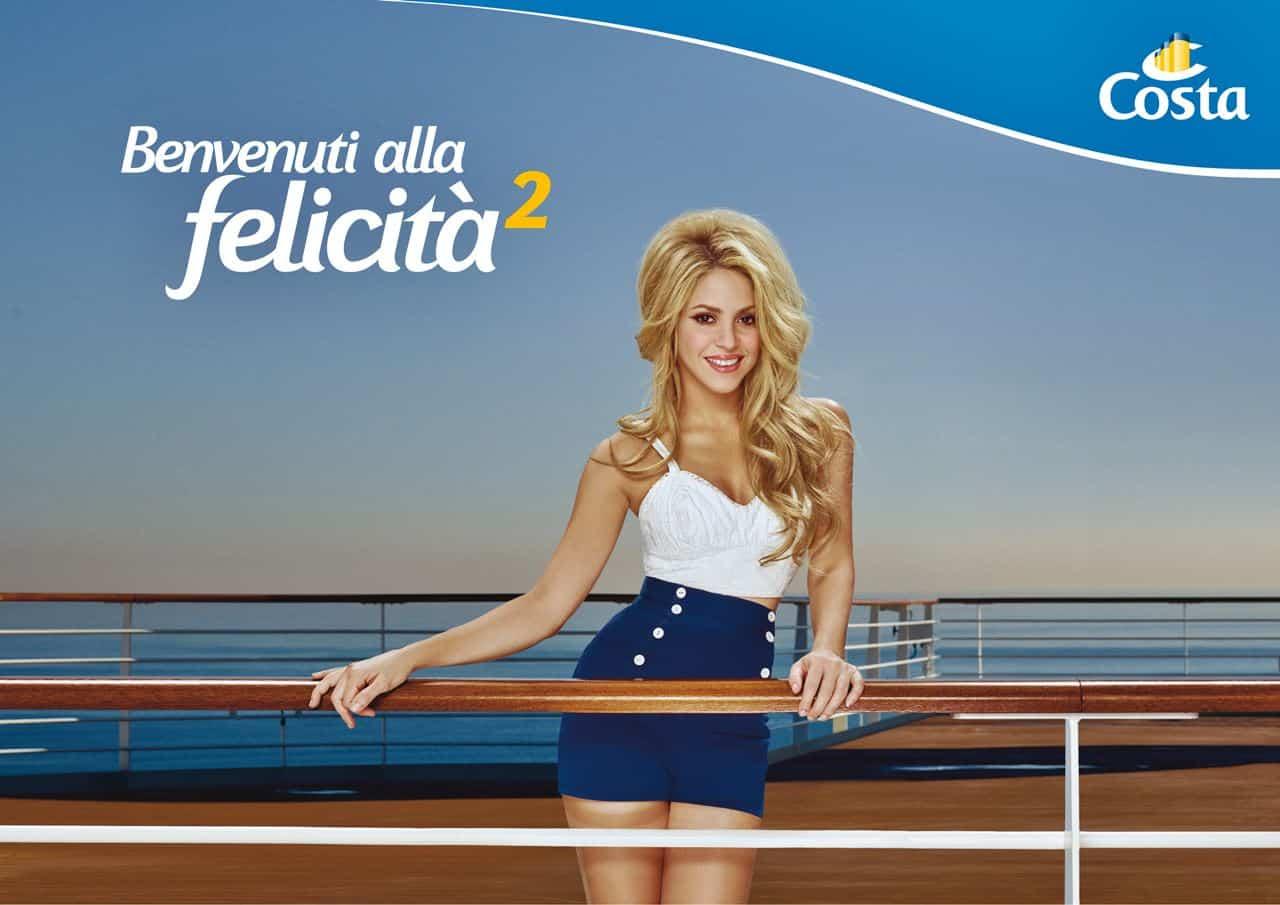 Costa Crociere, Felicità al Qaudrato, Shakira_a4