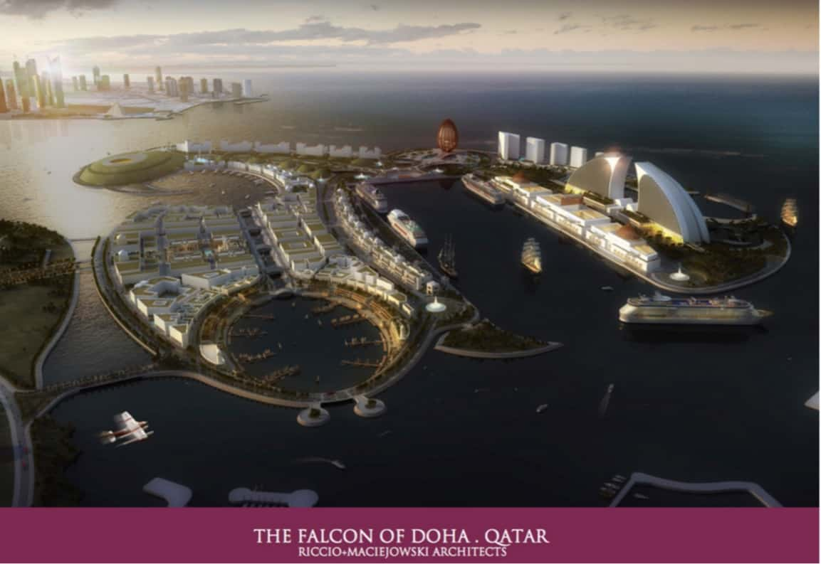 The Falcon of Doha, Qatar