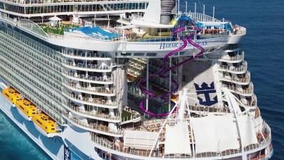 Royal Caribbean, Harmony of the Seas: i primi rendering di 'Ultimate Abyss', il più alto scivolo d'acqua in mare di sempre – Video notizia
