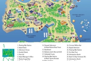 COCO CAY MAP