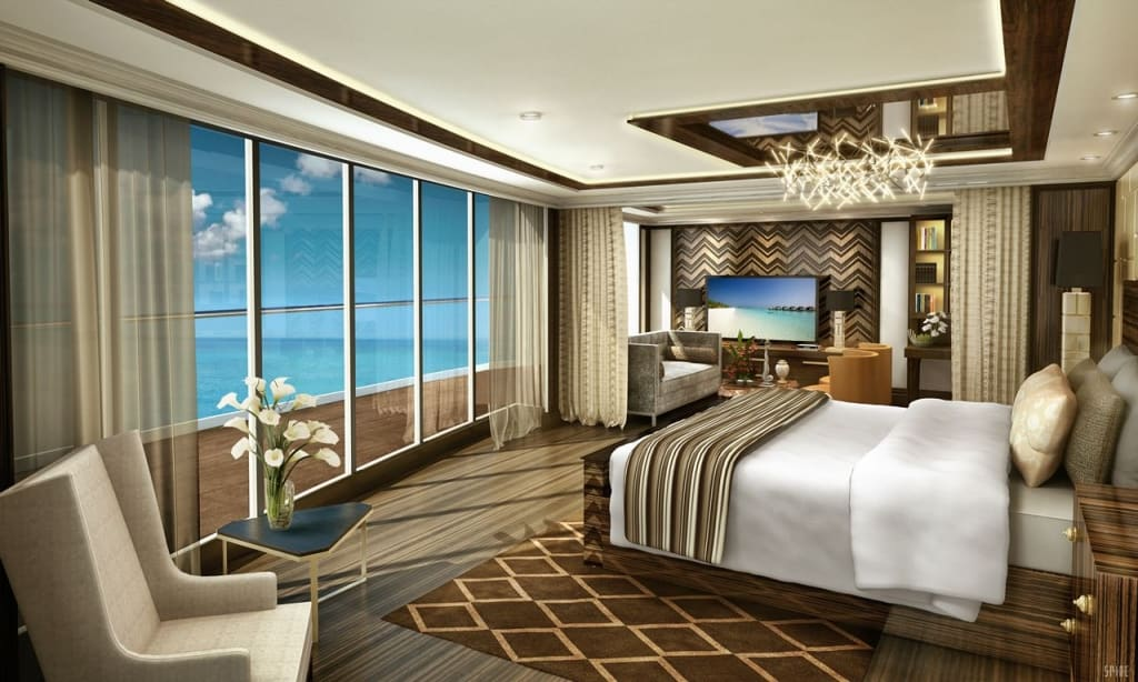 Regent Suite, Master Bedroom, Seven Seas Explorer, Regent Seven Seas Cruises