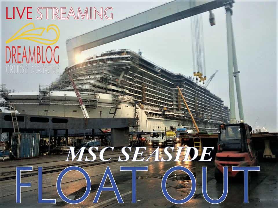 MSC Seaside, il float out
