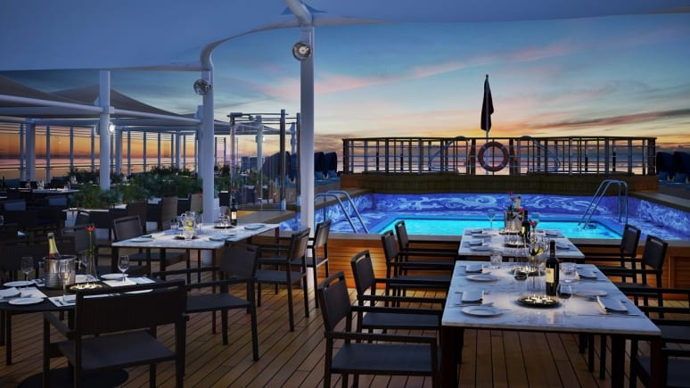 Queen Victoria, Cunard, QV_Aft_Lido_StillRender_Evening_UHD