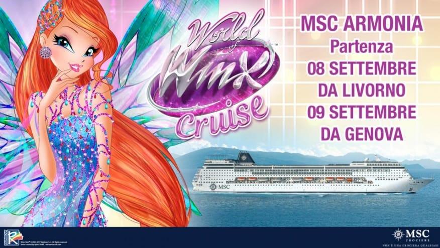 MSC Crociere: salpa a settembre la crociera nel Mediterraneo delle Winx 2017