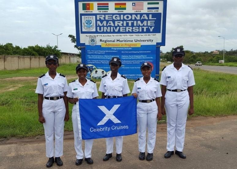 Nicholine Tifuh Azirh, Regional Maritime University, Ghana, Celebrity Cruises