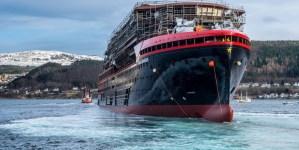 Hurtigruten: slitta al 2019 il debutto di Roald Amundsen