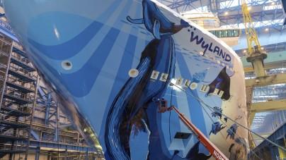 Norwegian Cruise Line: float out per Norwegian Bliss a Papenburg