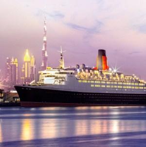Queen Elizabeth 2: oggi l'apertura come hotel galleggiante. Fra i primi a bordo gli ospiti di Queen Mary 2 in scalo a Dubai