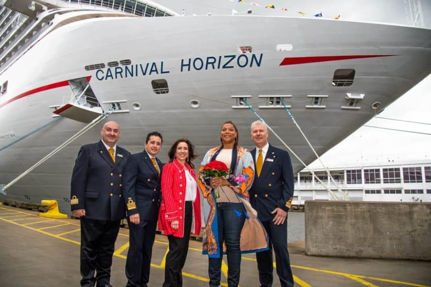 New York accoglie la nuova Carnival Horizon. Queen Latifah madrina della cerimonia di battesimo