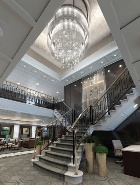 Grand Staircase, OceaniaNEXT, Oceania Cruises