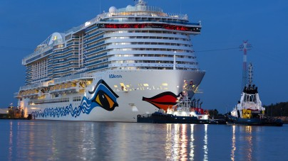 AIDA Cruises: AIDAnova pronta per le prove in mare dopo il primo rifornimento di LNG