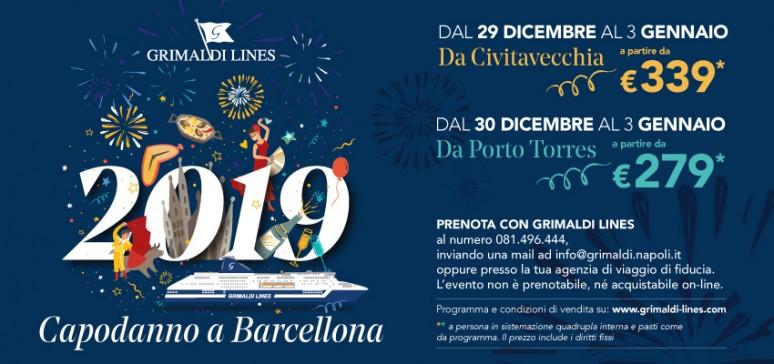 Capodanno 2019 Grimaldi Lines