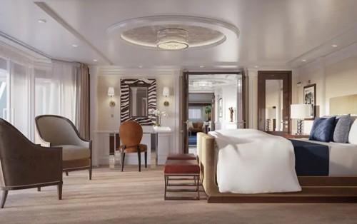 Oceania Riviera, Owner's Suite, Oceania Cruise, Ralph Lauren Home 2