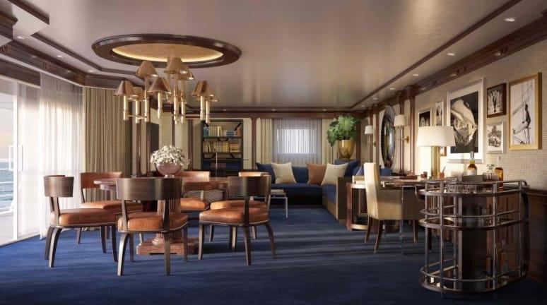 Oceania Riviera, Owner's Suite, Oceania Cruise, Ralph Lauren Home
