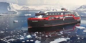 Hurtigruten: a bordo di Roald Amundsen il più alto schermo LED in mare