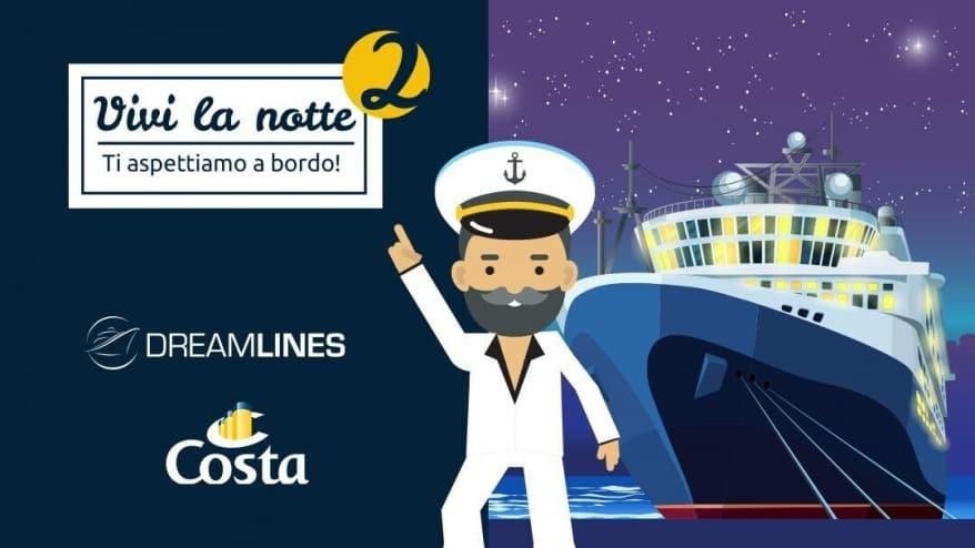 Save the date: torna a novembre #ViviLaNotte, una notte gratis a bordo di Costa Mediterranea con Dreamlines