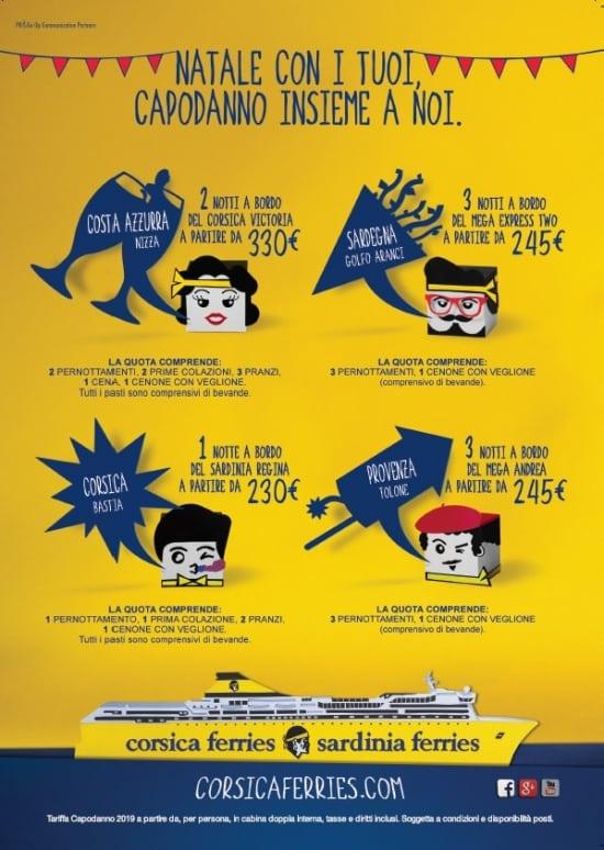 Capodanno 2019 Corsica Sardinia Ferries