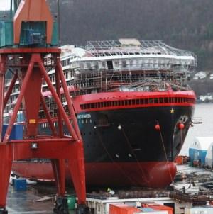 Hurtigruten, al cantiere Kleven Verft il varo tecnico di Fridtjof Nansen