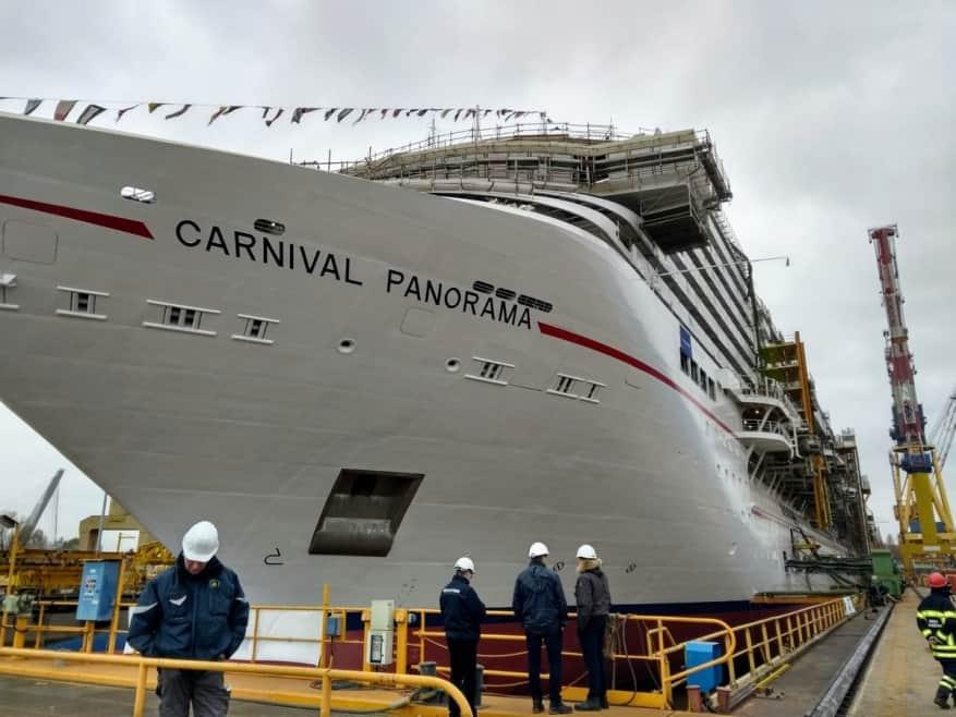 Fincantieri: varata a Marghera Carnival Panorama. Il debutto nell'autunno 2019