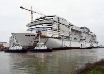 MSC Crociere, a Saint-Nazaire il float out di MSC Grandiosa