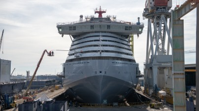 Virgin Voyages: varata a Sestri Scarlet Lady, prima innovativa unità della flotta