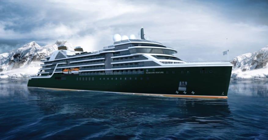 Seabourn: sarà Seabourn Venture il nome della prima unità da spedizione ultra-lusso. Il debutto nel 2021