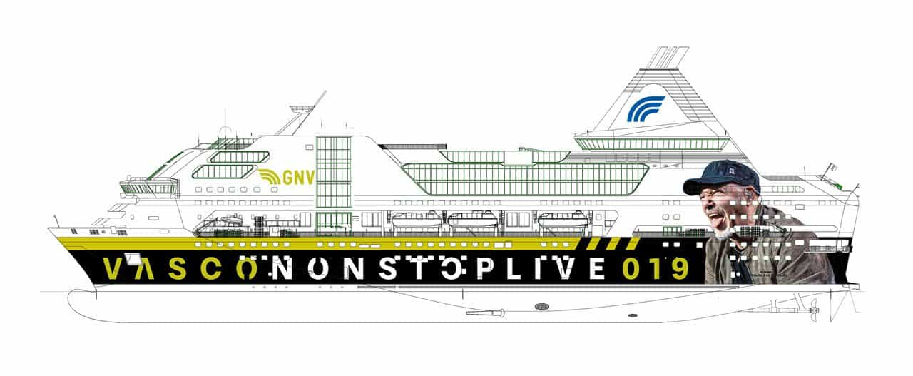 GNV, in Sardegna arriva la nave di Vasco Rossi | Dream Blog Cruise ...