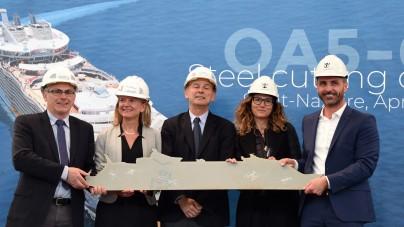 Royal Caribbean: taglio della lamiera a Saint-Nazaire per la quinta unità di classe Oasis