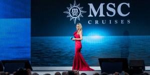 MSC Crociere: Michelle Hunziker ospite d'onore alla cerimonia di battesimo di MSC Grandiosa